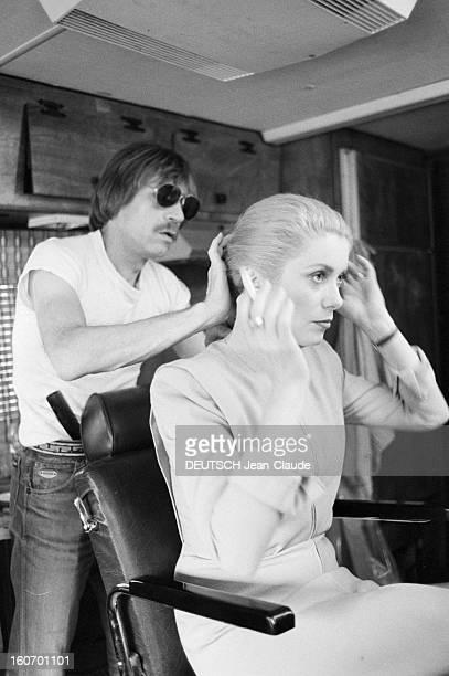 Shooting Of The Film 'predators' By Tony Scott EtatsUnis NewYork juin 1982 A l'occasion du tournage du film 'Les Prédateurs' réalisé par Tony Scott...
