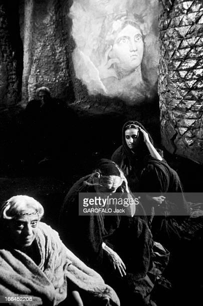Shooting Of The Film 'Satyricon' Federico Fellini. Italie, Rome, janvier 1969, dans les studios de cinéma de 'Cinecitta', tournage du film...