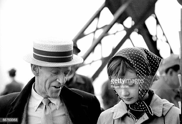 Shooting of the film Stanley Donen's Funny face Fred Astaire and Audrey Hepburn Paris on 1957 RV735131