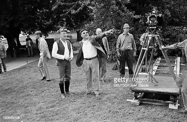 Shooting Of The Film 'the Cracks' By Alex Joffe Paris 29 septembre 1967 Sur le tournage du film 'Les Cracks' près d'une caméra le réalisateur Alex...