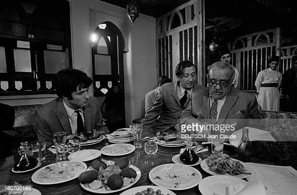 Shooting Of The Movie 'death Of A Jew' By Denys De La Patelliere With Yassaf Dayan Israël 11 Février 1962 Lors du tournage du film 'MORT D'UN JUIF'...