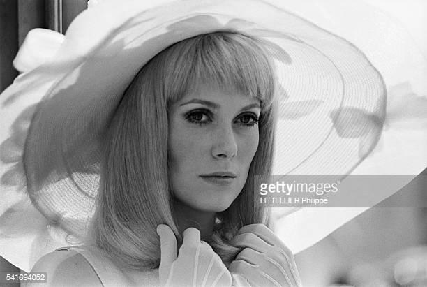 shooting of the movie Les Demoiselles de Rochefort by Jacques Demythe actress Catherine Deneuve on June 1966