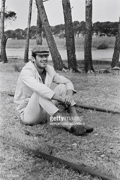 Shooting PIERROT LE FOU JeanPaul Belmondo in France in June 1965