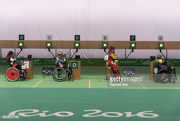 Shooting R2 Women's 10m Air Rifle Standing SH1 during day 2 of the Rio 2016 Paralympic Games at Olympic Shooting Centre on September 8 2016 in Rio de...