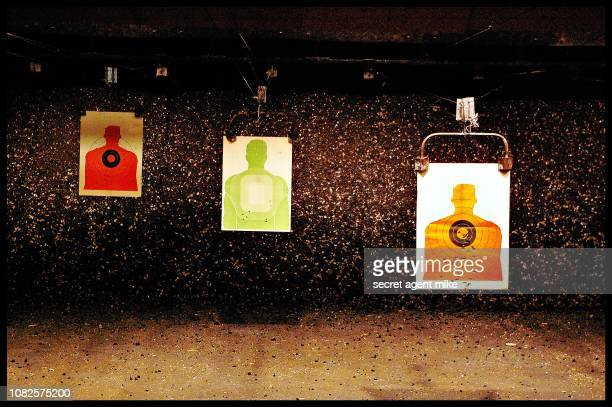 shooting range - target shooting stock pictures, royalty-free photos & images