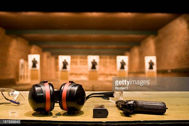 shooting range - weapon stock pictures, royalty-free photos & images