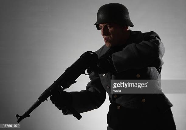 shooting soldier