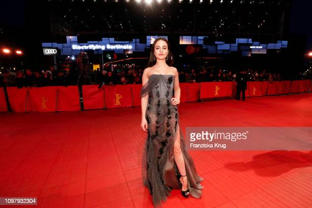 'Shooting Star' Aisling Franciosi arrives in Audi etron car for the Vice premiere during the 69th Berlinale International Film Festival Berlin at...
