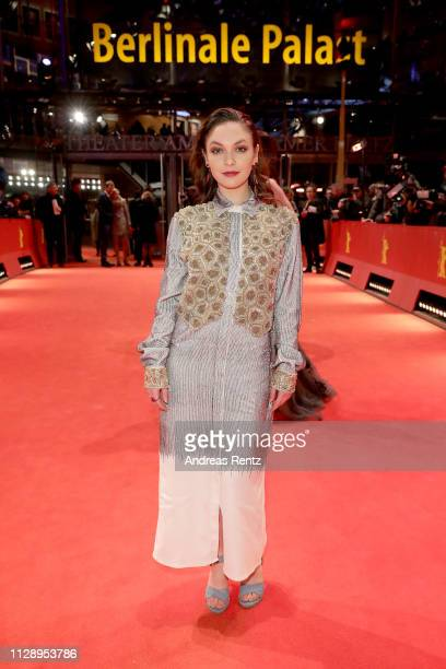 """Shooting Star"""" Emma Drogunova arrives for the European Shooting Stars 2019 ceremony and """"Vice"""" premiere during the 69th Berlinale International Film..."""