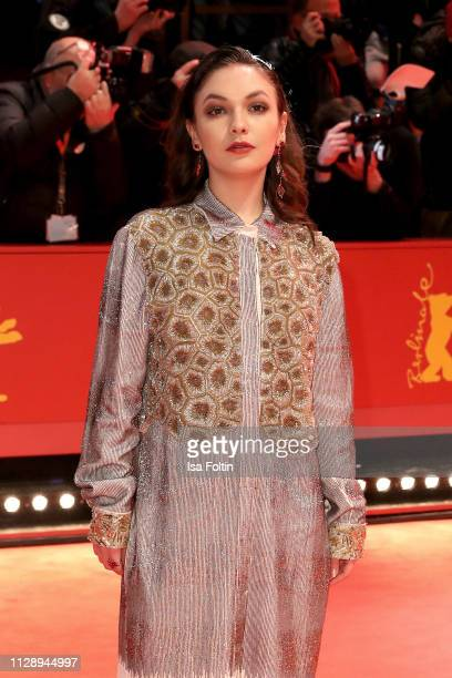 Shooting Star Emma Drogunova arrives for the Vice premiere during the 69th Berlinale International Film Festival Berlin at Berlinale Palace on...