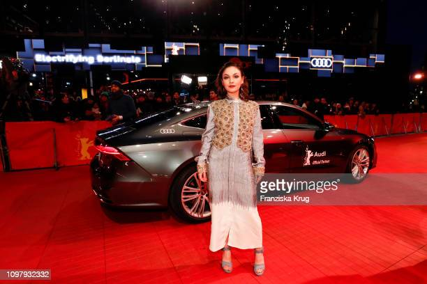 """Shooting Stars' Emma Drogunova arrives in Audi A7 car for the """"Vice"""" premiere during the 69th Berlinale International Film Festival Berlin at..."""