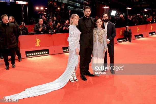 Shooting Stars Ine Marie Wilmann Milan Maric Emma Drogunova and Ardalan Esmail arrive for the Vice premiere during the 69th Berlinale International...
