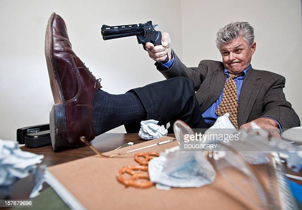 shooting yourself in the foot - self harm stock photos and pictures