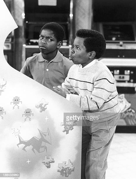 RENT STROKES 'ShootOut at the OK Arcade' Episode 1 Pictured Shavar Ross as Dudley Ramsey Gary Coleman as Arnold Jackson