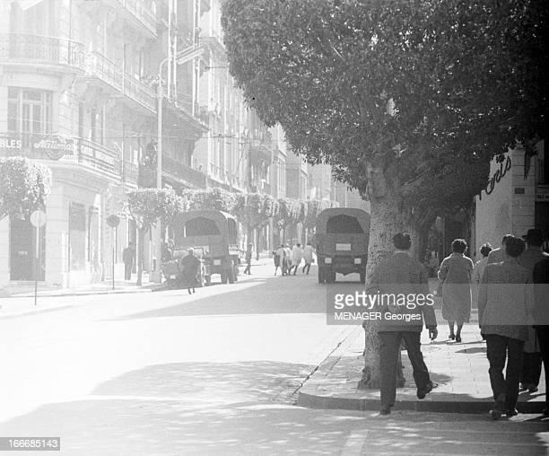 Shootout Of Isly Street In Algiers. Alger- 26 mars 1962- Rue d'Isly, devant la Grande Poste, lors de la fusillade de manifestants citoyens français,...