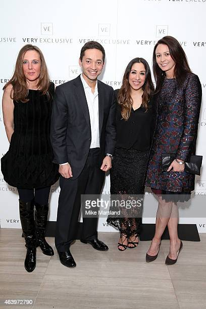 Shop Direct CEO Alex Baldock Sarah Curran and British Fashion Council CEO Caroline Rush attend the Very Exclusive launch party on the first night of...