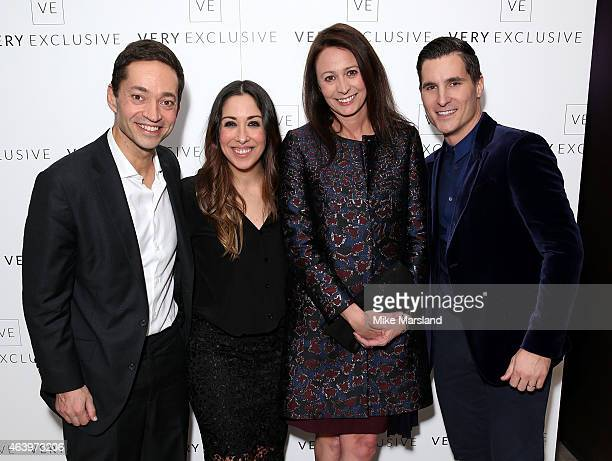 Shop Direct CEO Alex Baldock Sarah Curran British Fashion Council CEO Caroline Rush and Deputy Chief Exec for Shop Direct Gareth Jones attend the...