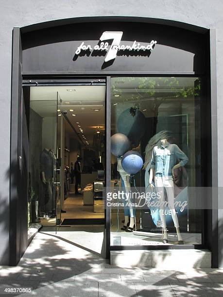 Shop of 7 for all mankind in Serrano Street in the Salamanca district of Madrid Spain