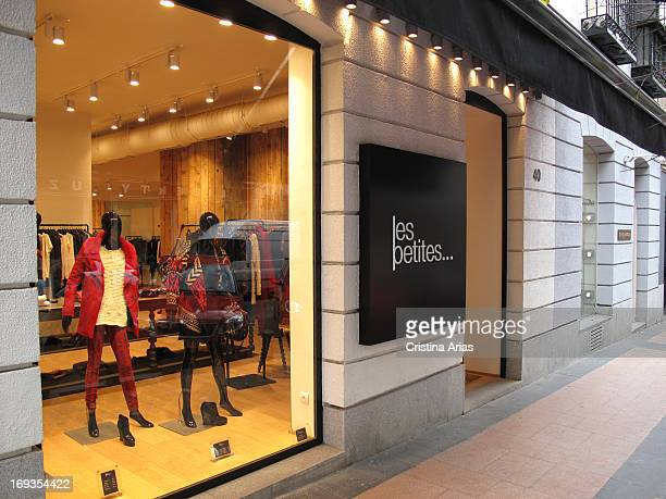 Shop of Les Petites the French firm of fashion for women on Calle Claudio Coello street within Madrid's Golden Mile a commercial area with luxury...