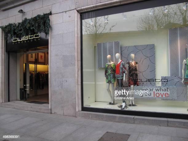 Shop of the fashion company of the catalan designer Custo Barcelona in Serrano Street in Salamanca district orf Madrid Spain