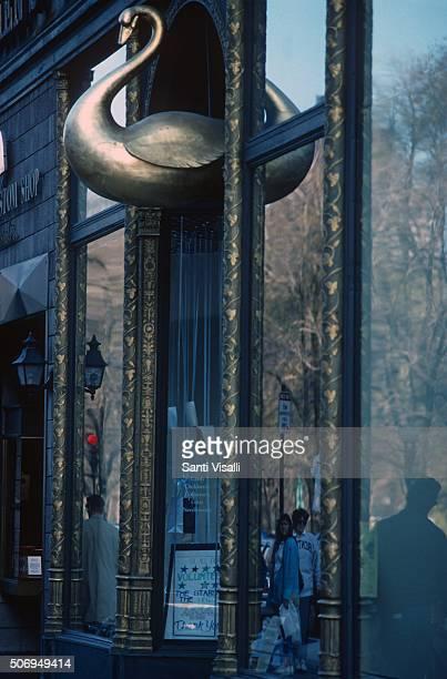 Shop on Boylston Street on April 5 1988 in Boston Massachussetts