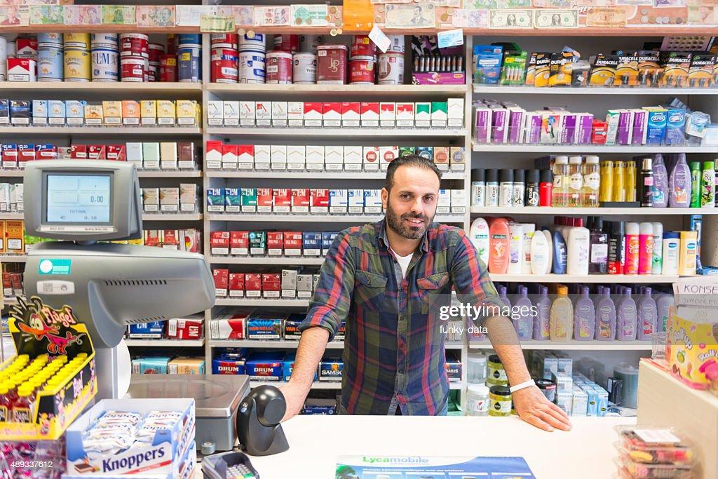 Shop owner portrait : Stock Photo