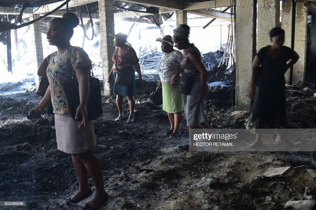 HAITI-MARKET-FIRE : Nachrichtenfoto