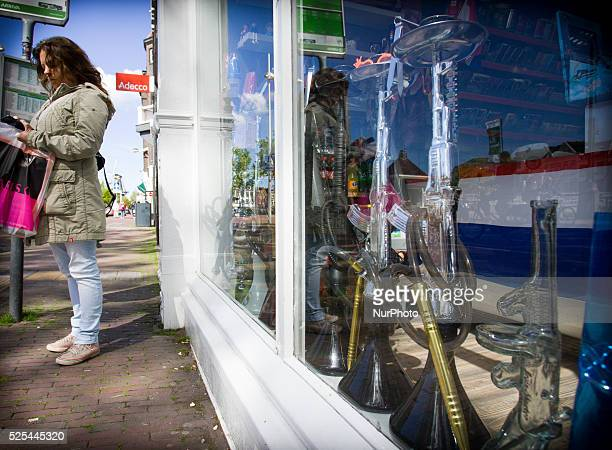 LEIDEN A shop selling water pipes in the shape of the popular AK 47 automatic rifle is seen in the central part of the city According to shop owner...