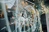 Shop window broken