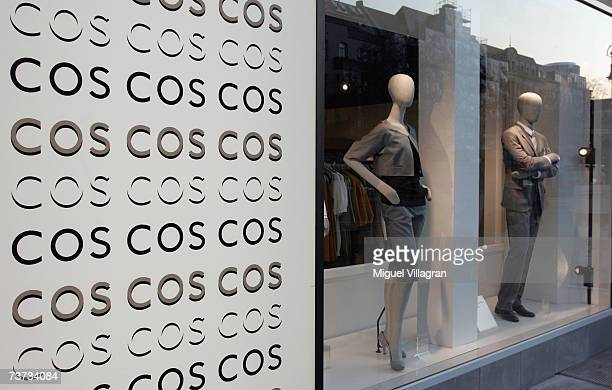 Shop window dummies are displayed at the new COSStore on March 28 2007 in Berlin Germany