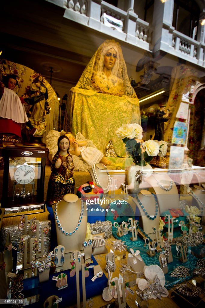Shop window in Seville : Stock Photo