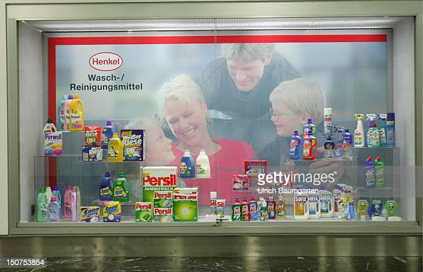 Shop window with products of the Henkel KGaA