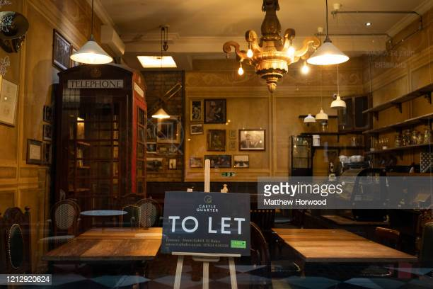 A shop with a To Let sign in the window on March 17 2020 in Cardiff Wales Boris Johnson held the first of his public daily briefing on the...