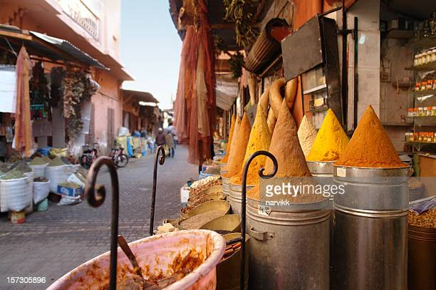 Shop with Spices on the Street in Marrakesh
