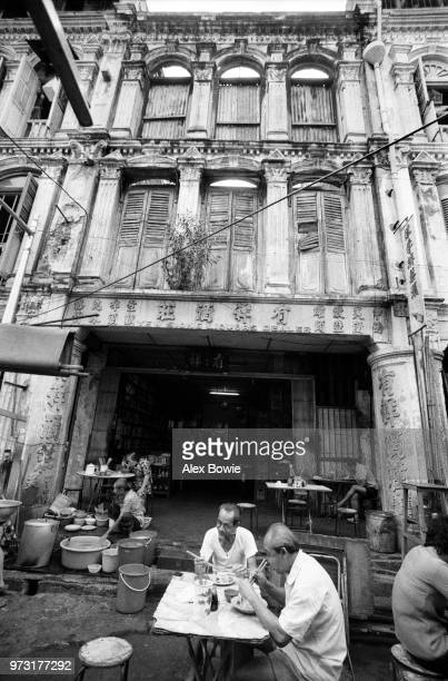 A shophouse eatery on Trengganau St seen in the final weeks of Chinatown's authentic living heritage Singapore 12 July 1983 By September 1983...