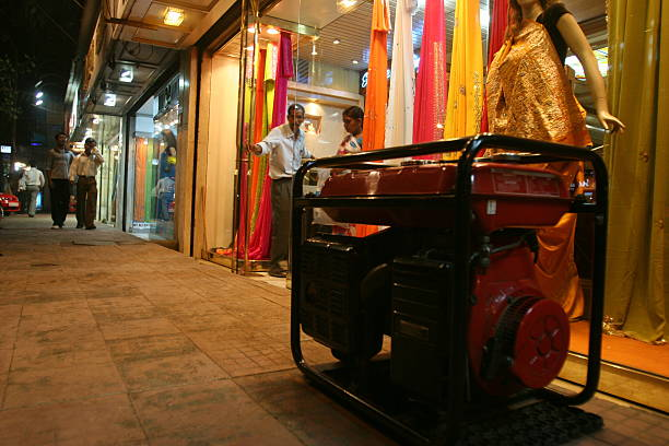 Shopkeepers using generator after the Power Cuts and Load Shedding