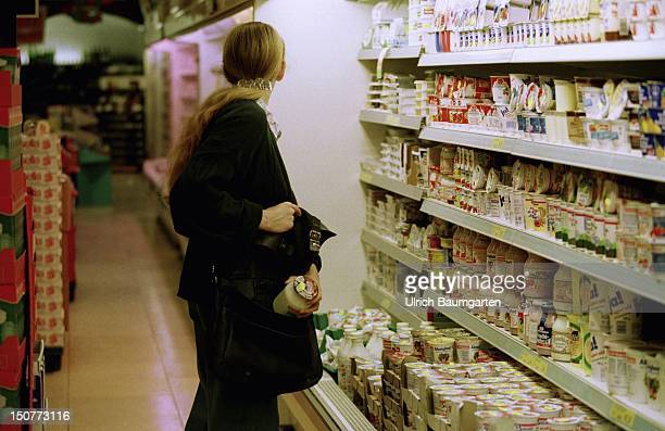 Shoplifting A customer steals food in a department store
