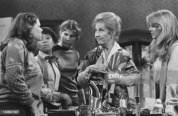 LIFE 'Shoplifting' Episode 6 Aired 12/31/80 Pictured Mindy Cohn as Natalie Letisha Sage Green Kim Fields as Dorothy 'Tootie' Ramsey Nancy McKeon as...