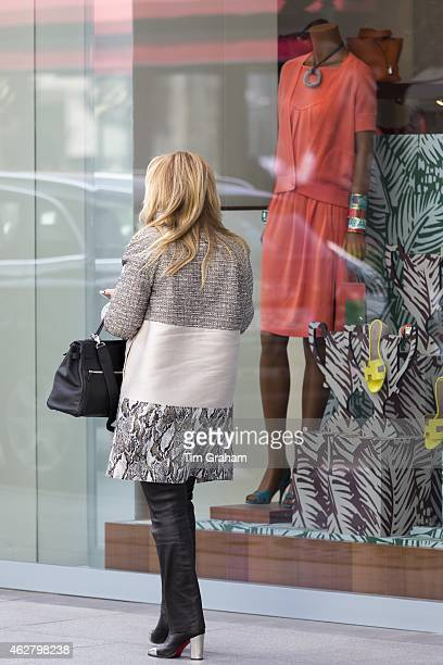 Shopper at Istinye Park shopping center mall near the Levent financial and business district of Istanbul Turkey