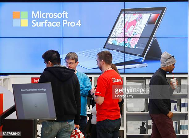 Shopper checks out products in the Microsoft Store at the City Creek Center looking for 'Black Friday' deals on November 25 2016 in Salt Lake City...