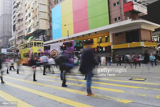 Shopper crossing the street