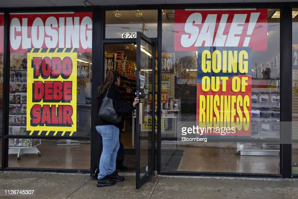 A shopper enters a Payless Inc store displaying a Going Out Of Business sign in Hammond Indiana US on Wednesday Feb 20 2019 Payless won court...