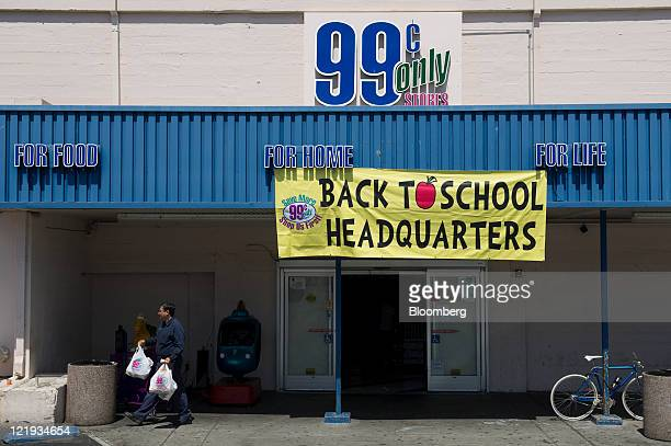 A shopper exits a 99 Cents Only Store in Berkeley California US on Monday Aug 22 2011 Apollo Global Management LLC will make an offer to acquire the...