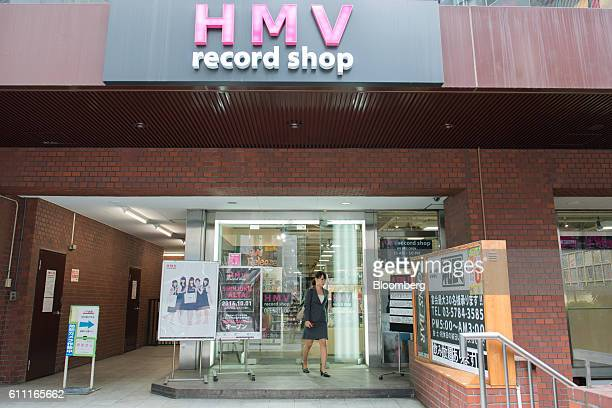A shopper exits the HMV Record Shop operated by Lawson HMV Entertainment Inc in the Shibuya district of Tokyo Japan on Wednesday Sept 28 2016 Spotify...