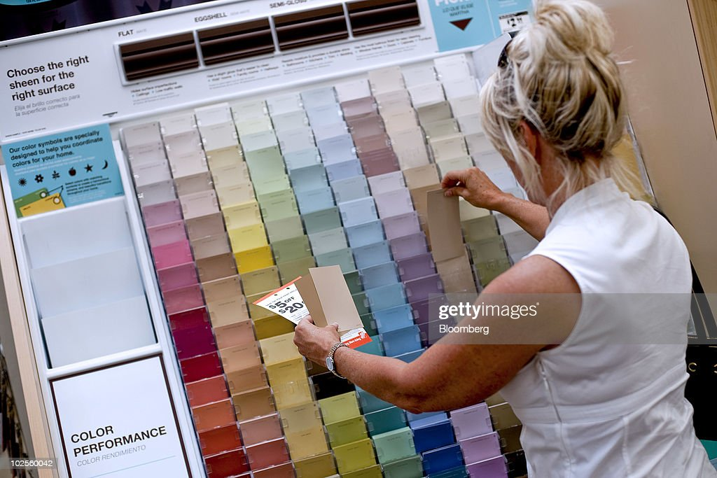 A Shopper Looks At Martha Stewart Living Paint Swatches In A Home Depot  Store In Atlanta