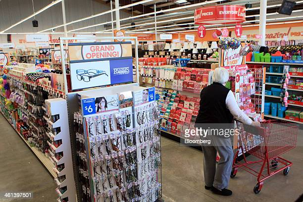 A shopper looks at Valentine's Day Cards at a Family Dollar Stores Inc location in Mansfield Texas US on Tuesday Jan 7 2014 Family Dollar Stores Inc...