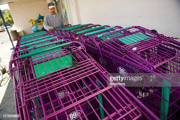 A shopper pulls a shopping cart out to use at a 99 Cents Only Store in Berkeley California US on Monday Aug 22 2011 Apollo Global Management LLC will...