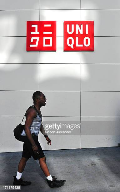 A shopper walks past the Uniqlo store on Powell Street in San Francisco California The popular Japaneseowned casualclothing retailer in the city's...