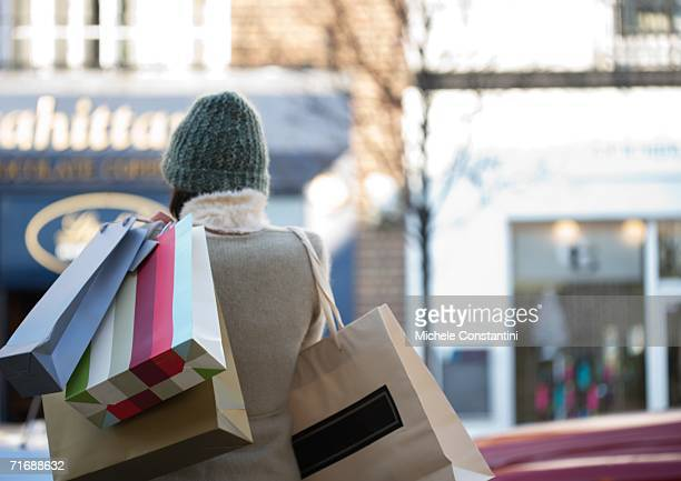 Shopper with shopping bags