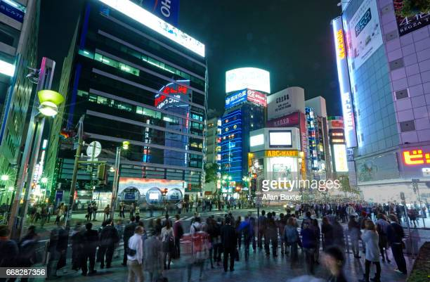Shoppers and tourists waiting at the Shibuya district of Tokyo